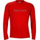 Marmot Windridge Langærmet T-shirt Herrer with Graphic rød